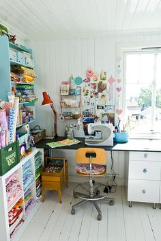 this would be a cool art studio.... even though it's a sewing room.. :)