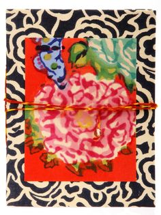 Notebook Lisa Corti, I like her handstamped fabrics