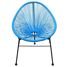 WICKER EGG CHAIR TURQUOISE