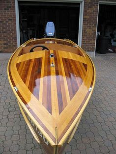 "Cedar Strip ""Peterborough"" designed runabout, 14.5', 2005,  (built by Canadian Canoes)"
