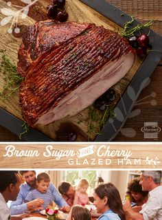 With lots of family around, having a great go-to ham recipe makes for easy entertaining. This Brown Sugar and Cherry Glazed Ham is a sweet, savory and delicious addition to your gatherings during the holidays or any time of year.