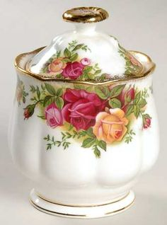 Royal Albert Old Country Roses Marmalade Pot with Lid - $45.99