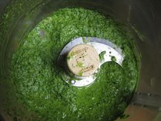 Fresh Chimichurri Sauce (gluten-free, nut-free and vegan) a twist on Pesto. Uses Parsley instead of Basil also garlic-olive oil+vinegar. Can be served on chicken-fish-steak-pork-or topping for pasta.