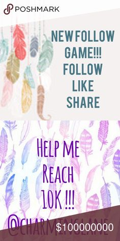 💓Just 3,500 away from my goal!! 💓 Please help me reach 10K!!! It's easy! Just follow me, next like this post, and lastly share!!! Let's grow together!!! PM is a great community !! 💓💓💓💓💓💓😊😊😊😊😊 Other