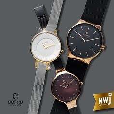 Obaku - just one of the Danish watch brands that we stock at NWJ.