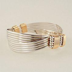Bracelets 98480: Sterling Yellow Gold Filled 4 Knot 10 Strand Elephant Hair Style Safari Bracelet BUY IT NOW ONLY: $225.0