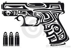 Tribal Gun - well this would go with my other tribal tattoo