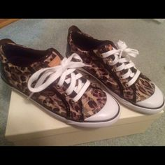 Coach leopard print sneakers Coach leopard print sneakers. Comfy and cute. Lightly used. Size 8 Coach Shoes Sneakers