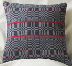 Blue Ilocano Kosikos Design front with linen by ABEKHomeAndCulture, $40.00 Philippines, Throw Pillows, Trending Outfits, Blue, Etsy, Vintage, Design, Toss Pillows, Cushions