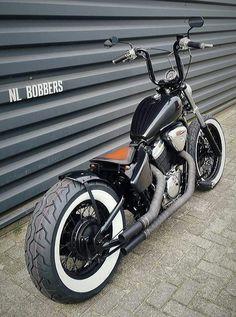 Ideas For Chopper Motorcycle Bobber Honda Shadow Honda Bobber, Honda Shadow Bobber, Motos Honda, Bobber Bikes, Harley Bobber, Harley Bikes, Virago Bobber, Moto Chopper, Chopper Motorcycle
