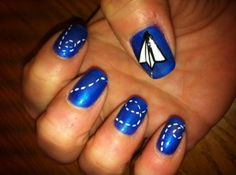 paper airplane nails!