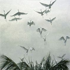 *Once she was gone she found that every soul flew fast away, but she would not, so sure she was that he would come to be her guide.  Egrets of the Sacred Grove, Bali by Robert Bateman