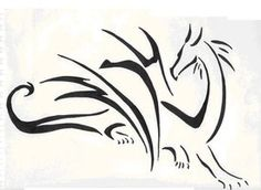 Simple dragon tattoo by *TheMetasepia on deviantART