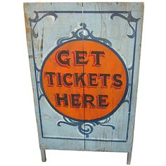 Circa 1900 Ticket Booth   From a unique collection of antique and modern carnival art at http://www.1stdibs.com/furniture/folk-art/carnival-art/