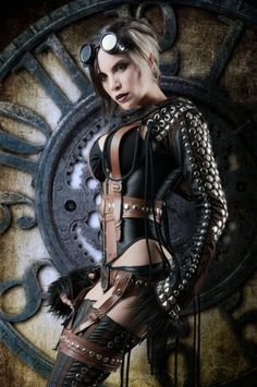 "gothicandamazing: "" Necklaces: Alchemy Gothic Leather pouch: ArcaneArmoury Coat: Draculaclothing Pants: Kato's SteampunkCouture Sunglasses: Victorian Time Machine Photo/model: Alternate History..."