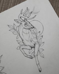 Looks pretty cool -Cft- Deer boi tattoo. Looks pretty cool -Cft Deer boi tattoo. Looks pretty cool -Cft - Animal Sketches, Animal Drawings, Drawing Sketches, Art Drawings, Cool Tattoo Drawings, Cartoon Drawings, Deer Drawing, Painting & Drawing, Hase Tattoos
