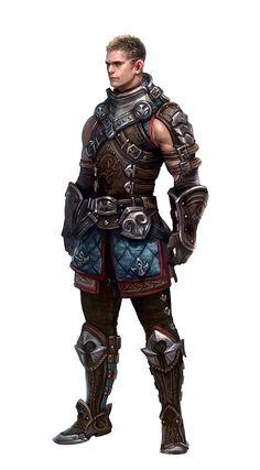 Human Male Brawler - Pathfinder PFRPG DND D&D d20 fantasy