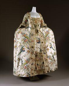 Robe à la Française Date: 1740s Culture: British Medium: silk, pigment, linen Accession Number: 1995.235a, b