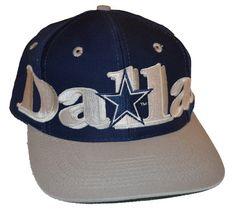 Vintage 90s LOGO 7 NFL Dallas Cowboys Wraparound Snapback Hat 9b5428575