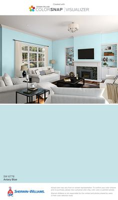 I found this color with ColorSnap® Visualizer for iPhone by Sherwin-Williams: Aviary Blue (SW 6778).