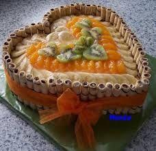 Výsledek obrázku pro ovocne dorty pro deti Pastries, Cakes, Big, Heart, Food, Birthday Cakes, Cake Party, Food Cakes, Fiestas