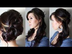 Elegant Cascading hair styles wedding-ideas