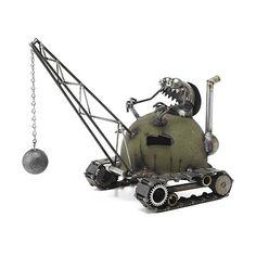 Wrecking Ball Garden Sculpture