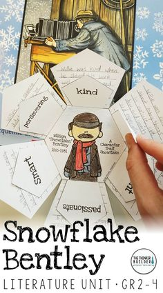 Snowflake Bentley Literature Unit {My Favorite Read Alouds} Reading Strategies, Reading Activities, Reading Skills, Teaching Reading, Teaching Ideas, Classroom Activities, Library Activities, Reading Resources, Winter Activities