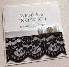 Vintage Lace Wedding Invitations crystal wedding cards