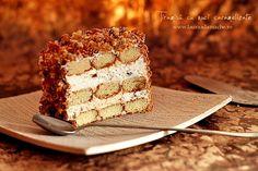 Tiramisu with caramelized walnuts Romanian Desserts, Romanian Food, Cannoli, Caramelized Walnuts, Tiramisu Cake, Ice Cream Recipes, Food Art, Banana Bread, Delish