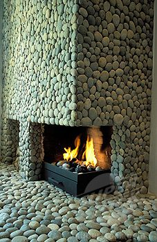River Rock Wood Stove Hearths Google Search River