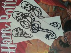 Dark Mark temporary tattoos.