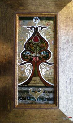 Dávid Júlia festőművész honlapja | Galéria | Üvegkompozíciók Julia, Stained Glass, Mandala, David, Ceramics, Wall, Pattern, Painting, Home Decor