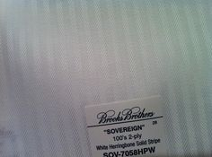 White Herringbone shirting fabric from my trip to Brooks Brothers - I had one made in this but I like it so much, keep for future reference in all different colors.