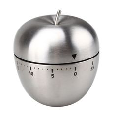 Mechanical Kitchen Cooking Timer Alarm 60 Minutes Stainless Steel Apple Novelty in Home & Garden, Kitchen, Dining & Bar, Kitchen Tools & Gadgets, Timers Kitchen Tools, New Kitchen, Kitchen Gadgets, Kitchen Timers, Digital Timer, Stainless Steel Kitchen, Bar, Brush Cleaner