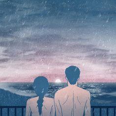 Cute Couple Drawings, Cute Couple Pictures, Couple Illustration, Illustration Art, Cute Couple Wallpaper, Cartoons Love, Ink Pen Drawings, Couple Art, Retro Art