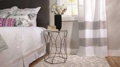 Painted Curtains      Dress up plain curtains with painted stripes. Watch and see how easy it is.