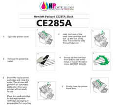 know how to install HP ce285a Toner cartridges