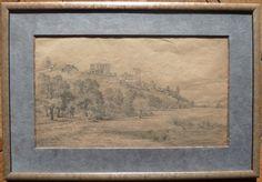 Encadrement - dessin ancien - Abbaye de Montmajour Vintage World Maps, Picture Frame, Drawing Drawing