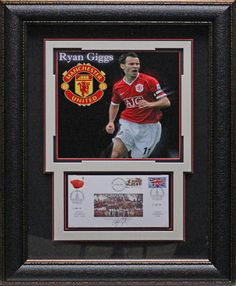180741d9f56 Autographed Soccer Memorabilia · Manchester United s Ryan Giggs  Authentically Signed 2008 Commemorative Postal Cover Framed