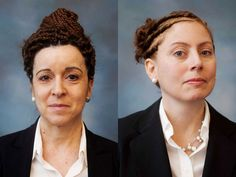 White women, black hairstyles, by Endia Beal. Wow, what an interesting idea. I want to see what else this artist comes up with.