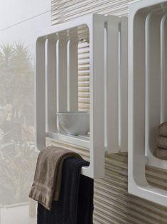 Wall-mounted towel warmer MONTECARLO by Tubes Radiatori | #design Peter Jamieson @tubesradiatori