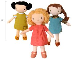 Estas lindas muñecas de tela las hare con mi maquina de coser que ganare con :  #ConcursoSingerChile