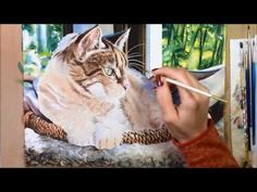 Speed Painting Watercolor - Bunny, Our Tabby Cat