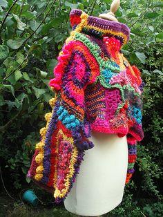 Featured Artiste: Christine Leconte of Utopik Baz'Art — Spin Artiste - Handspun Yarn Free Crochet, Knit Crochet, Crochet Ideas, Mohair Sweater, Knit Sweaters, Freeform Crochet, Crochet Clothes, Beautiful Outfits, Beautiful Clothes
