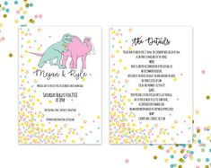 Pattern and Illustration by PinkPeaDesign Wedding Show, Dinosaurs, Rsvp, Wedding Invitations, Weddings, Digital, Illustration, Handmade Gifts, Pattern
