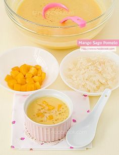A simple recipe for recreating the popular Chinese mango sago with pomelo dessert.
