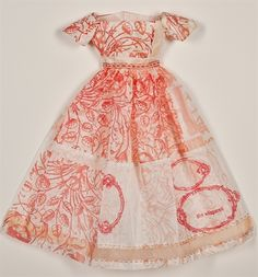 Used to make this lttle dress: Etching, letterpress, paper, thread.