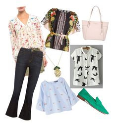 Emma's work wear for hope house by dana15 on Polyvore featuring polyvore fashion style Walter Baker Etro Violeta by Mango Frame MICHAEL Michael Kors Anton Heunis clothing