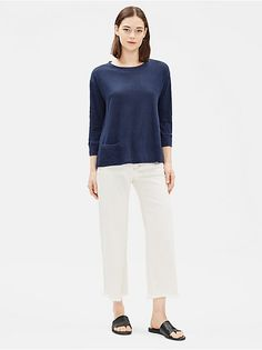 Shop our collection of womens tops and tees for an effortlessly casual look. Available in silk, organic linen, and organic cotton. Find your perfect top. Interview Shoes, Tee Shirts, Tees, Eileen Fisher, Casual Looks, Organic Cotton, Normcore, Tunic Tops, Clothes